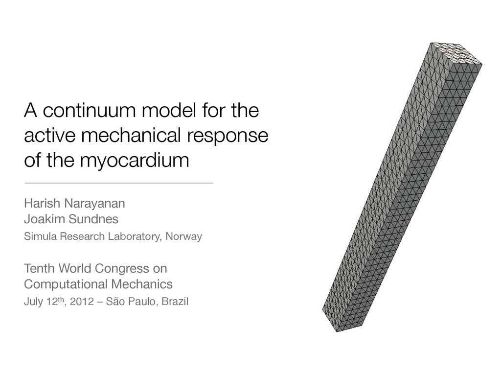 A continuum model for the active mechanical res...