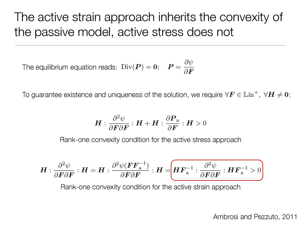 The active strain approach inherits the convexi...
