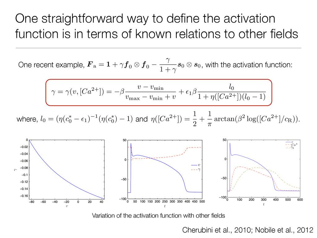 One straightforward way to define the activation...