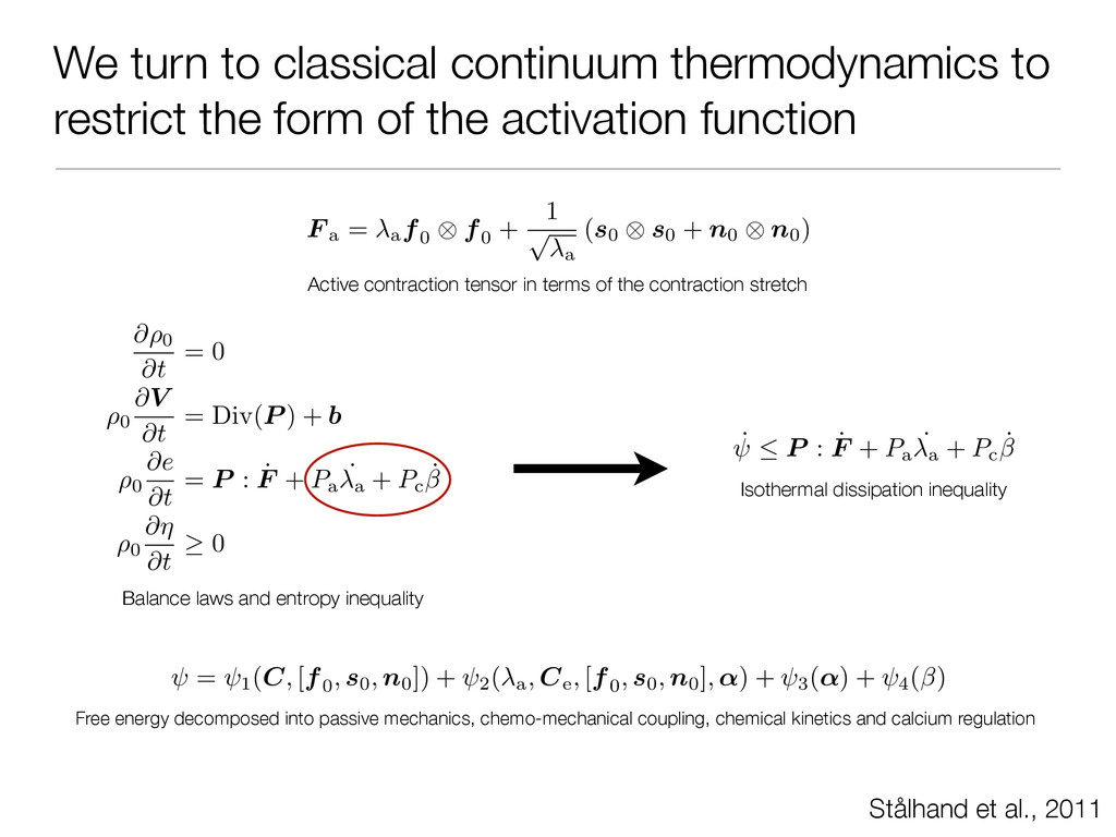 We turn to classical continuum thermodynamics t...
