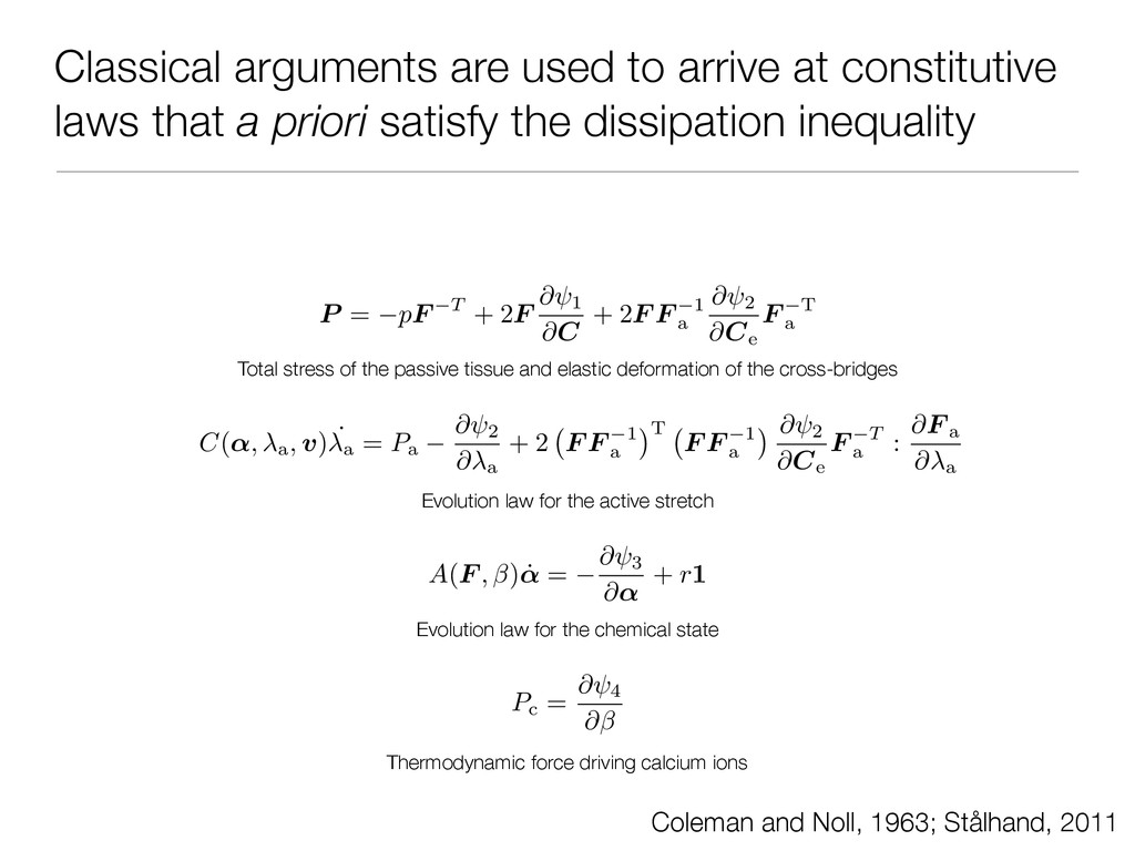 Classical arguments are used to arrive at const...