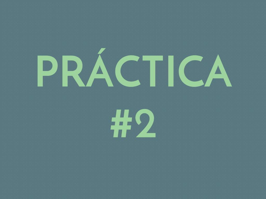 PRÁCTICA #2