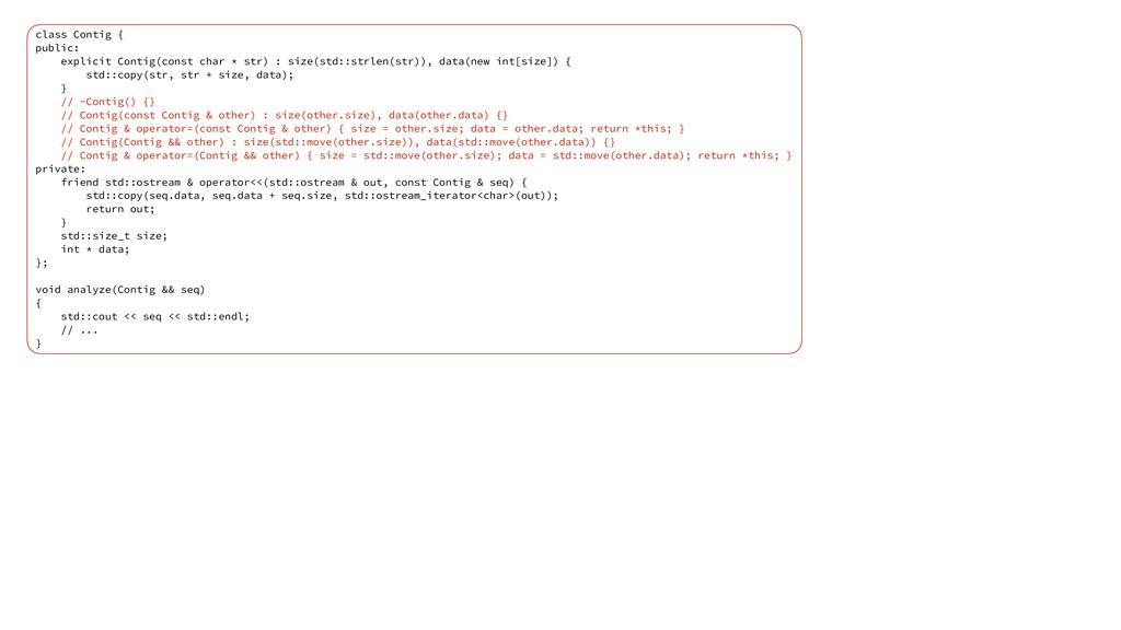 class Contig { public: explicit Contig(const ch...
