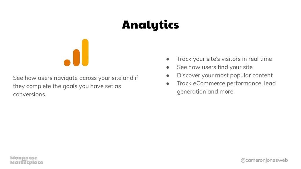 @cameronjonesweb Analytics See how users naviga...