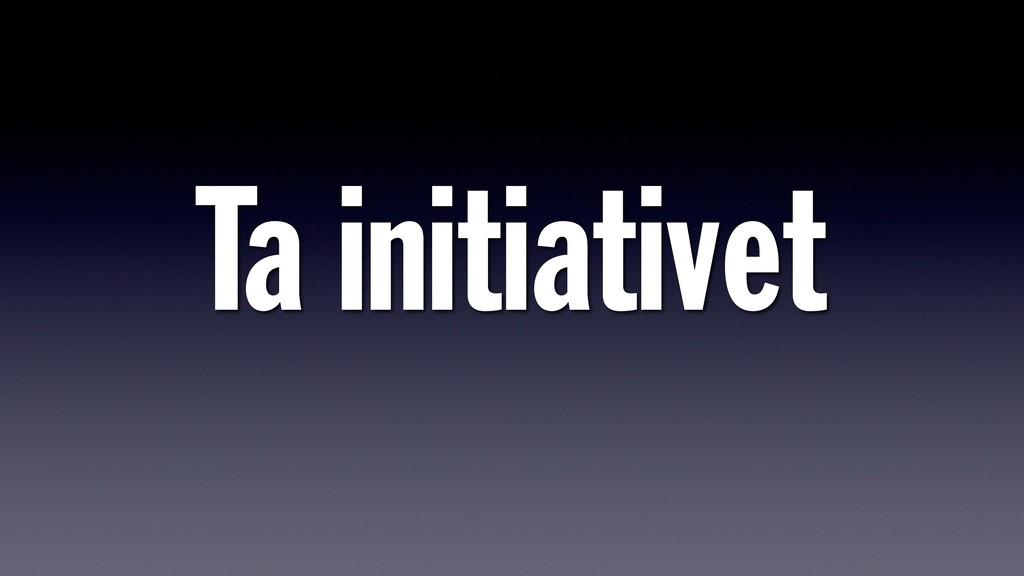 Ta initiativet