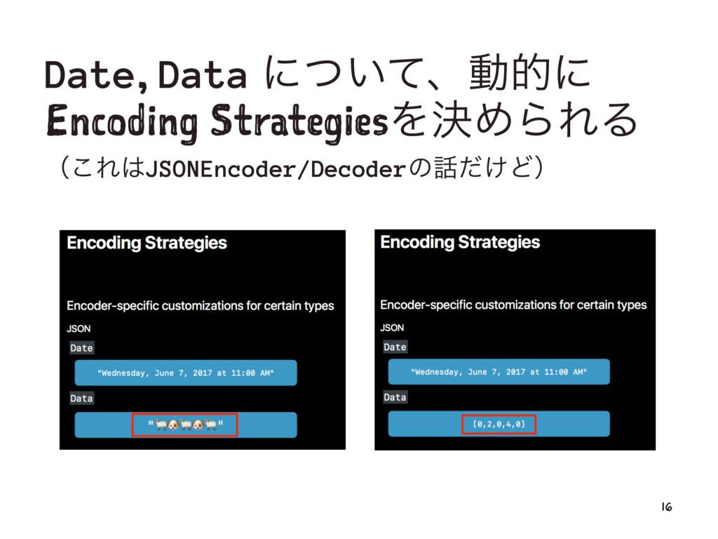Date, Data ʹ͍ͭͯɺಈతʹ Encoding StrategiesΛܾΊΒΕΔ ʢ...
