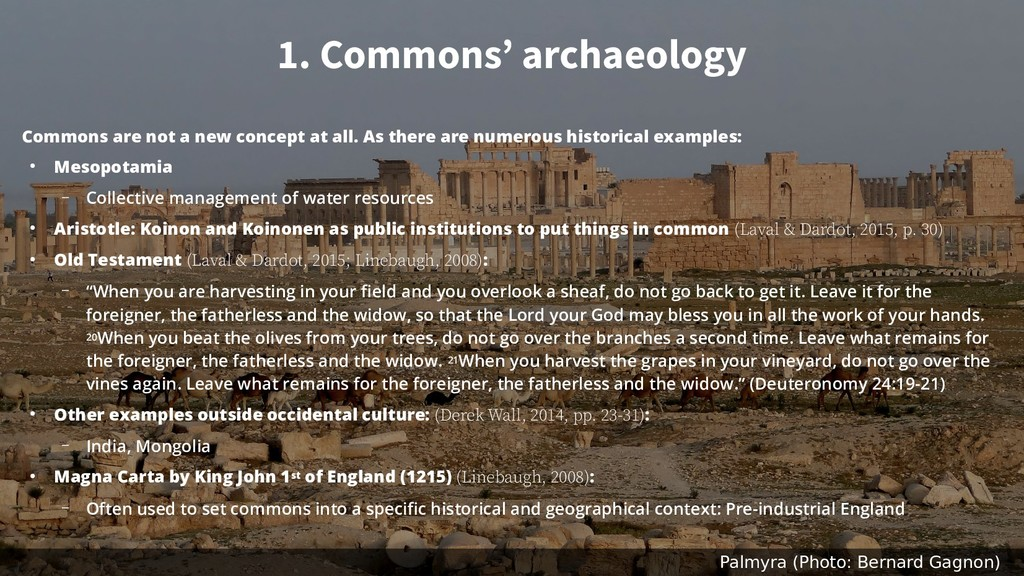 1. Commons' archaeology Commons are not a new c...