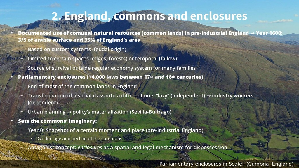 2. England, commons and enclosures ● Documented...