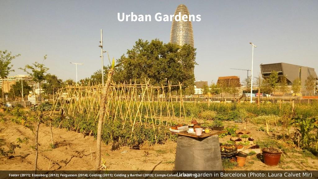 Urban Gardens Urban garden in Barcelona (Photo:...