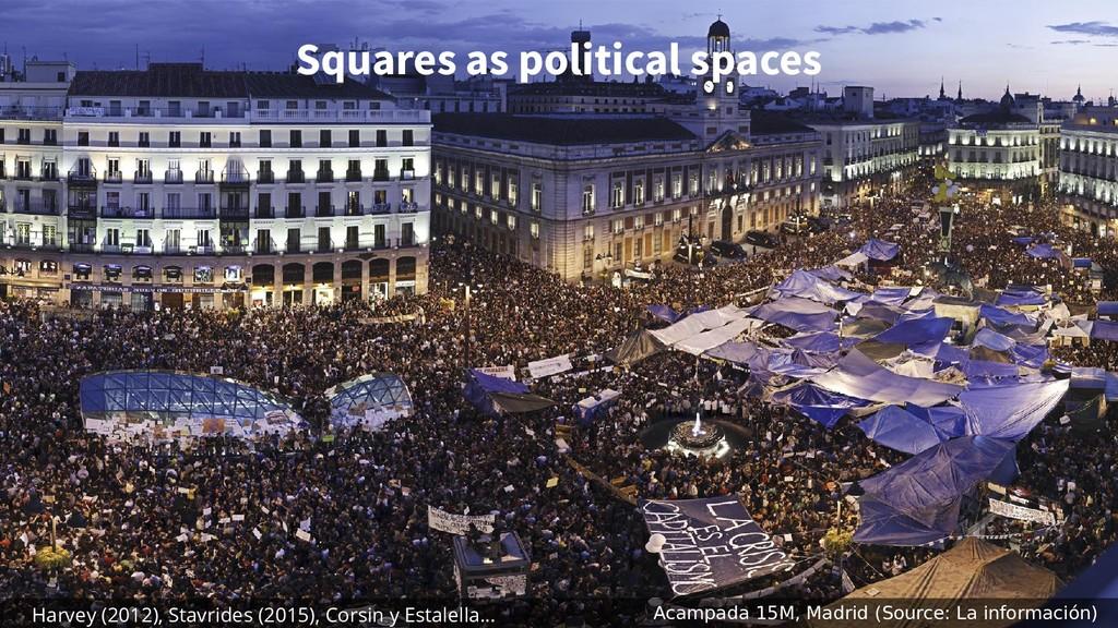 Squares as political spaces Acampada 15M, Madri...