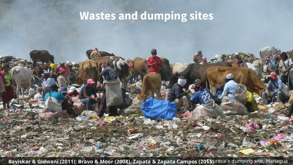Wastes and dumping sites Chureca's dumping site...