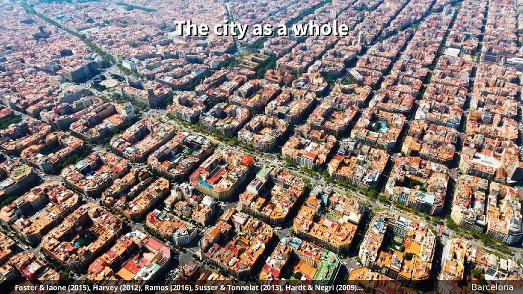 The city as a whole The city as a whole The cit...