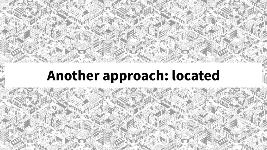Another approach: located