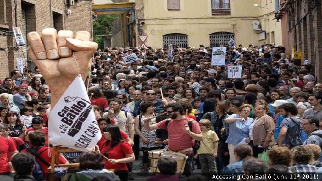 Accessing Can Batlló (June 11th 2011)