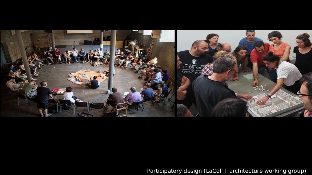 Participatory design (LaCol + architecture work...