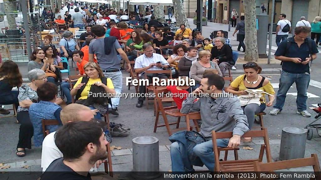 Intervention in la rambla (2013). Photo: Fem Ra...