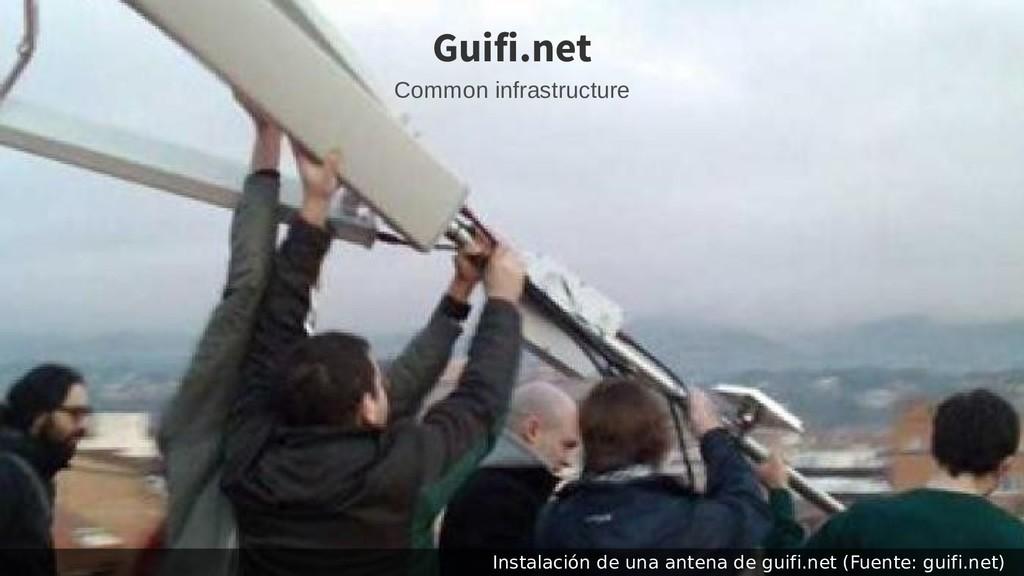 Instalación de una antena de guifi.net (Fuente:...