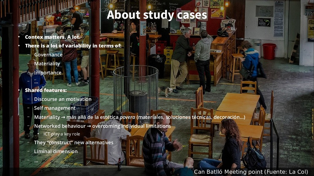 About study cases ● Contex matters. A lot. ● Th...