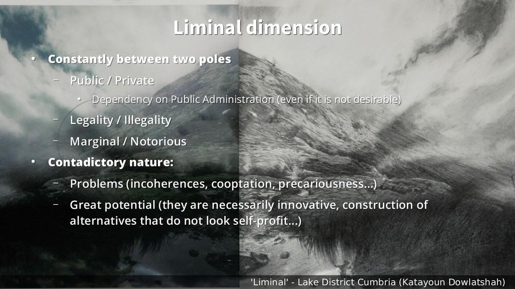 Liminal dimension Liminal dimension ● Constantl...
