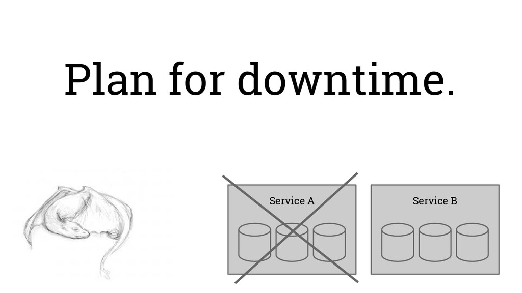Plan for downtime. Service B Service A