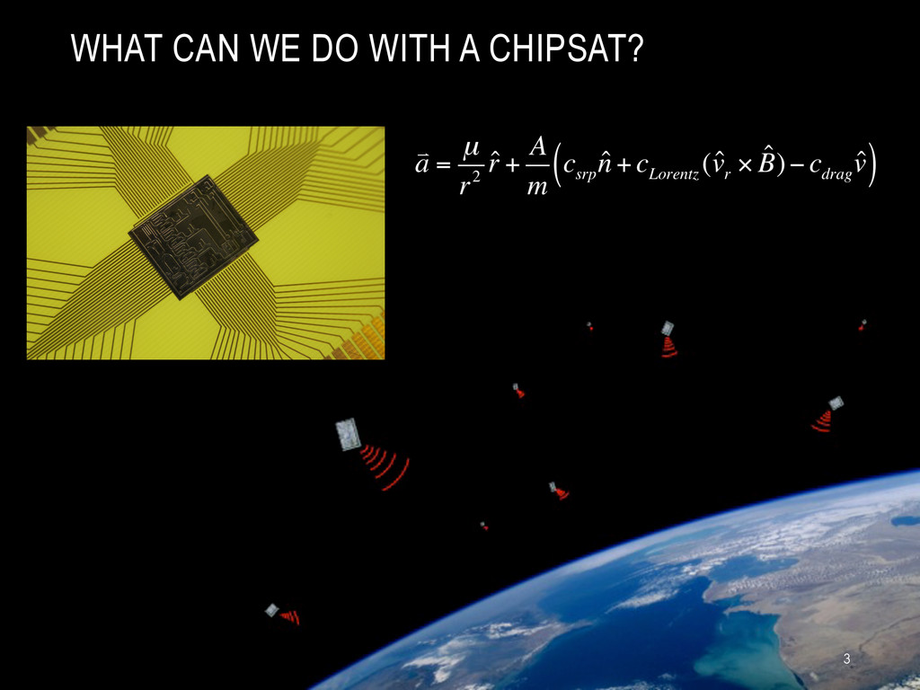WHAT CAN WE DO WITH A CHIPSAT? 3