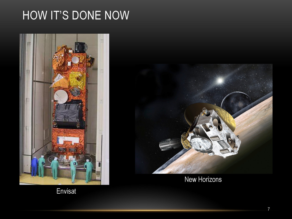 HOW IT'S DONE NOW 7 New Horizons Envisat