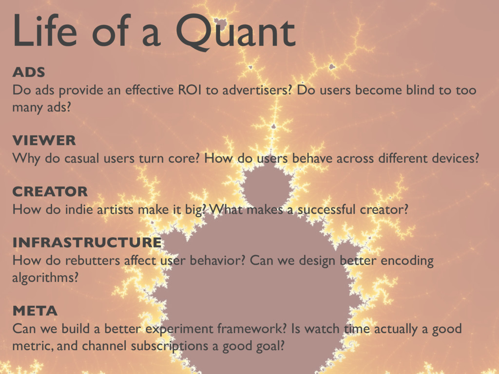 Life of a Quant ADS Do ads provide an effective...
