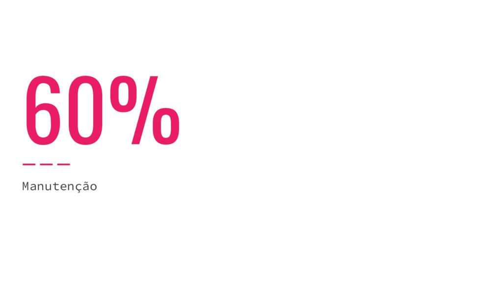 60% Manutenção