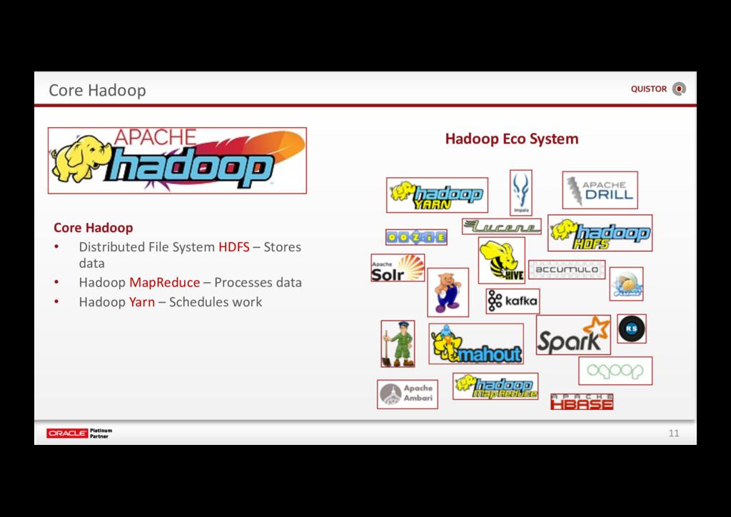 11 Core Hadoop Core Hadoop • Distributed File S...