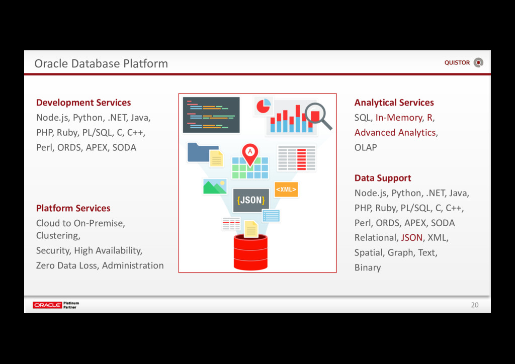 20 Oracle Database Platform Analytical Services...