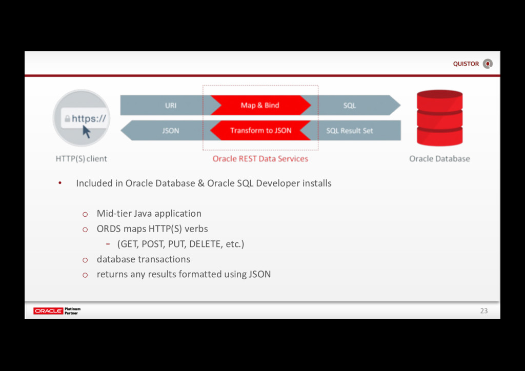23 • Included in Oracle Database & Oracle SQL D...