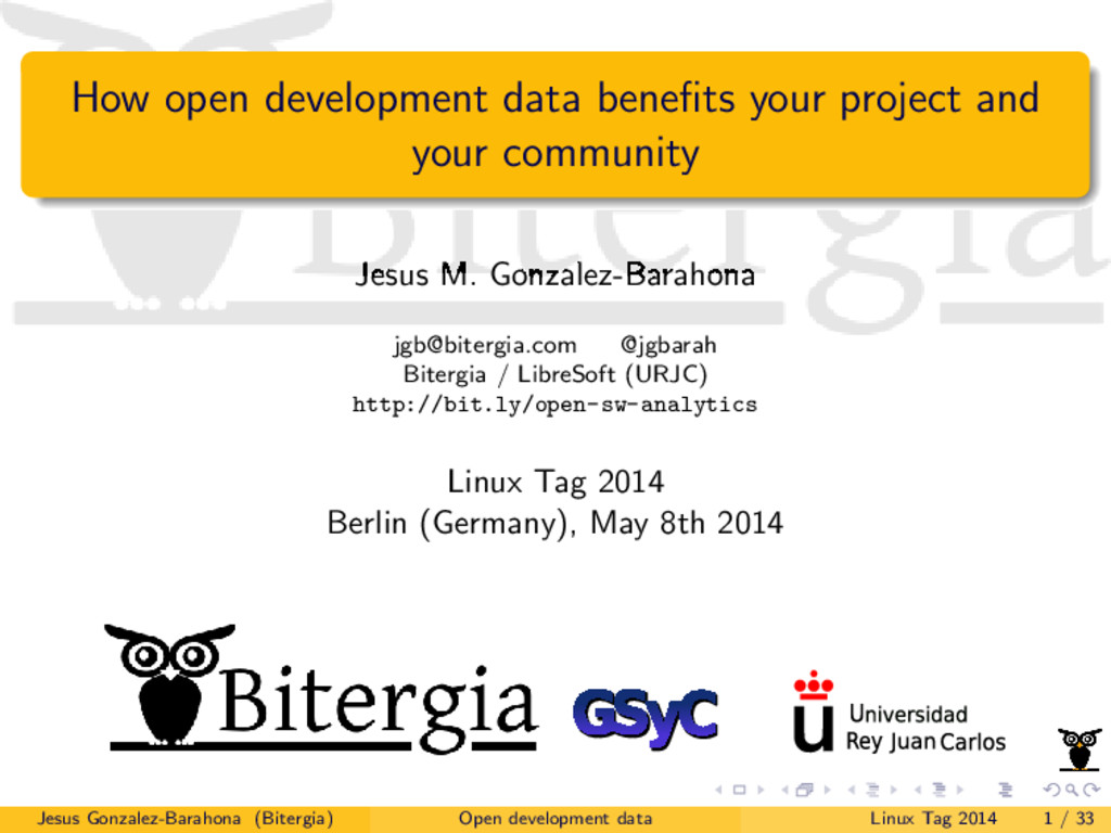 How open development data benefits your project ...