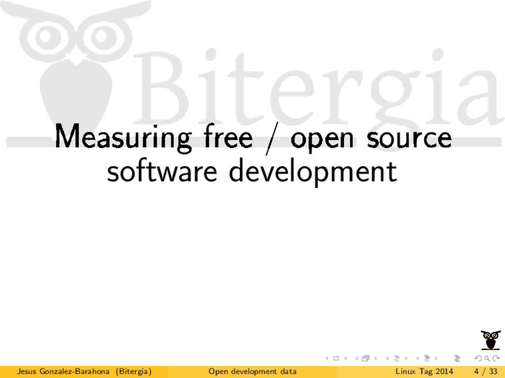 Measuring free / open source software developme...