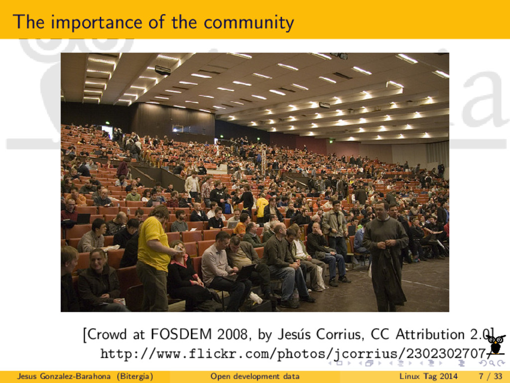 The importance of the community [Crowd at FOSDE...
