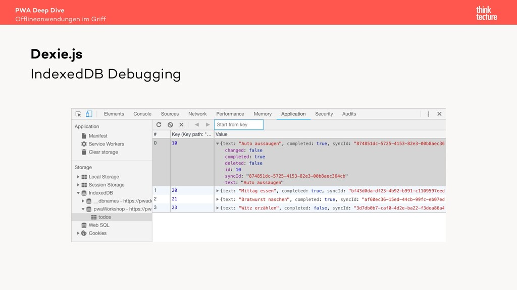 IndexedDB Debugging PWA Deep Dive Offlineanwend...