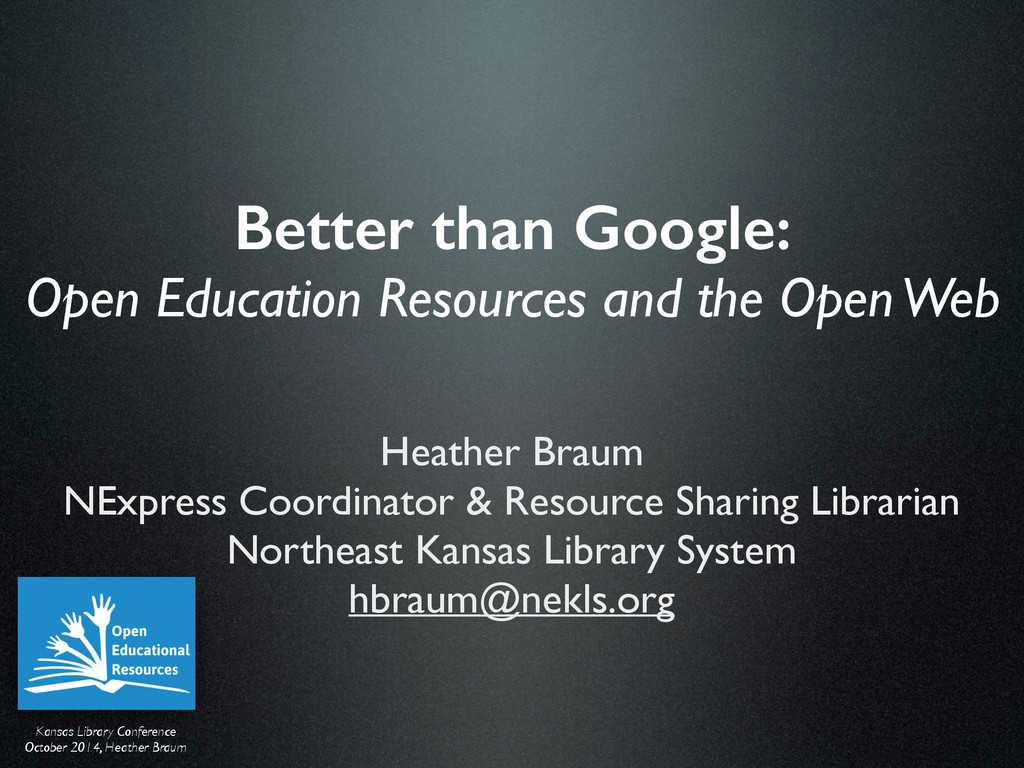 Kansas Library Conference  October 2014, Heat...