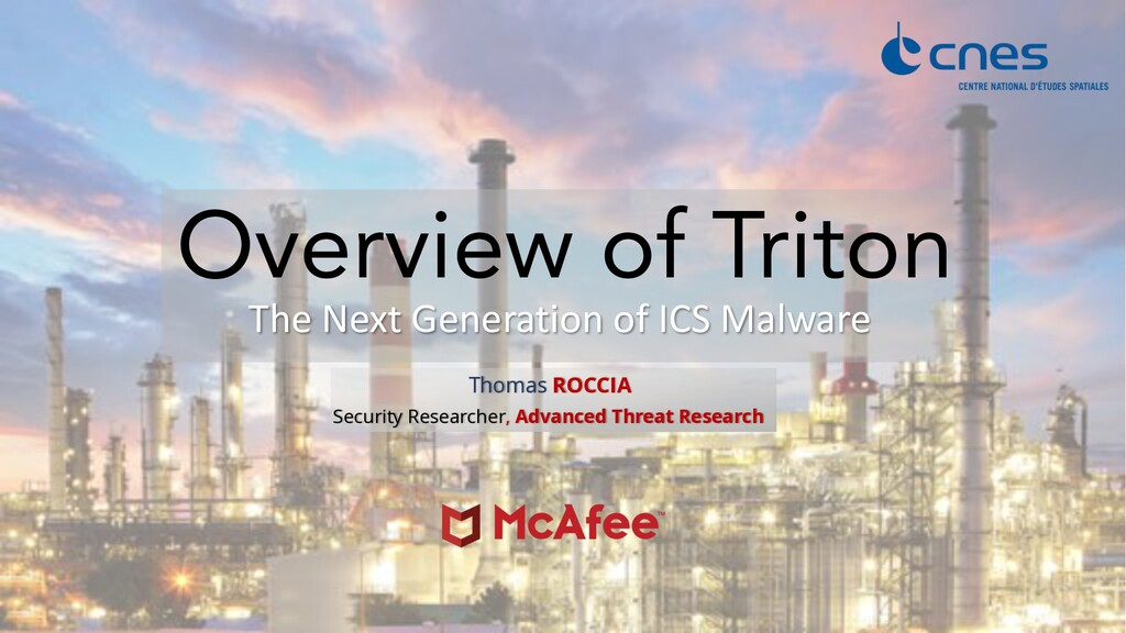 The Next Generation of ICS Malware Overview of ...