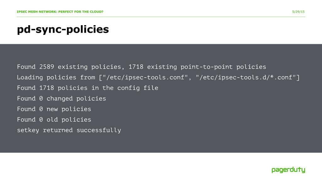 5/29/15 pd-sync-policies IPSEC MESH NETWORK: PE...