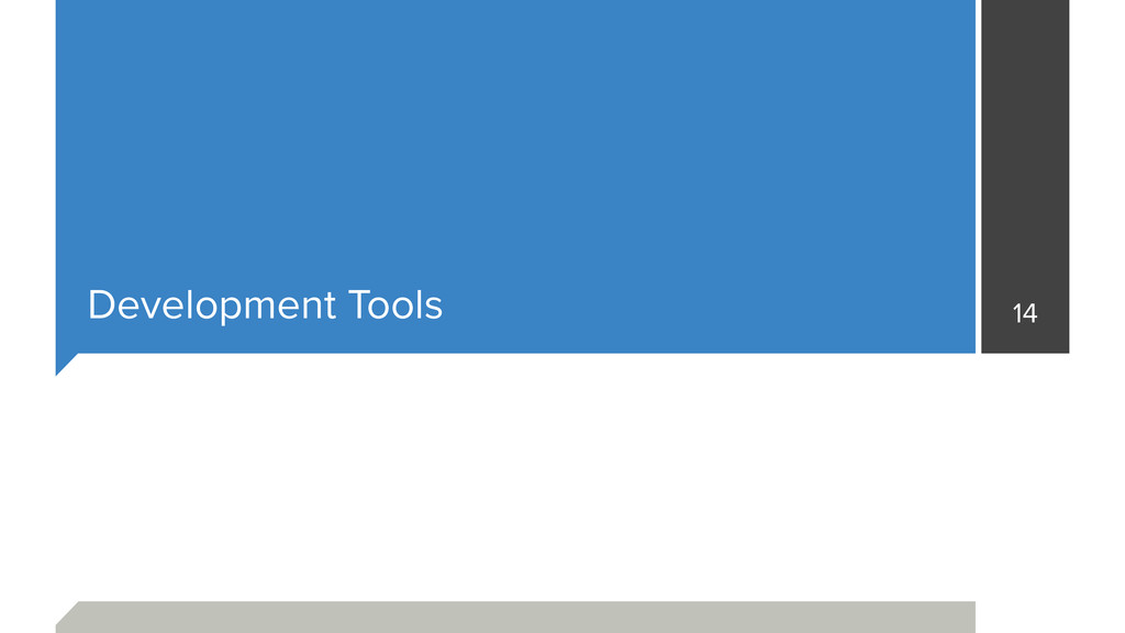 Development Tools 14