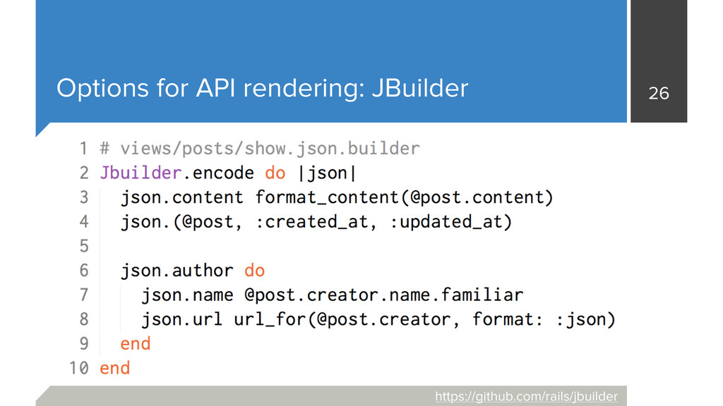 Options for API rendering: JBuilder 26 https://...