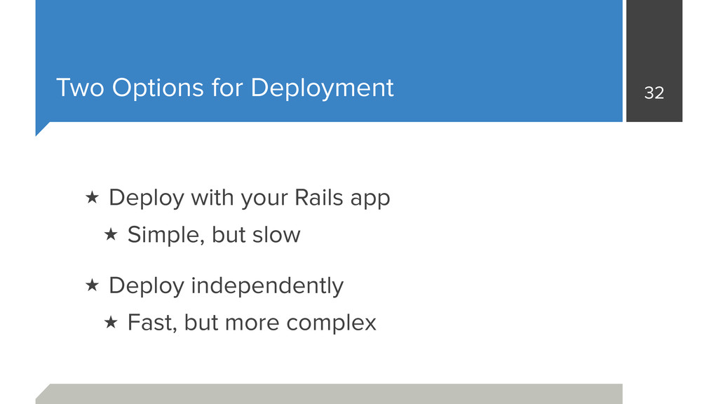 Two Options for Deployment ★ Deploy with your R...