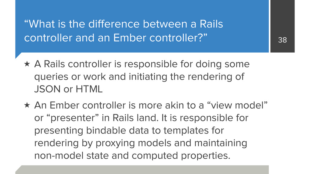 """What is the difference between a Rails controll..."