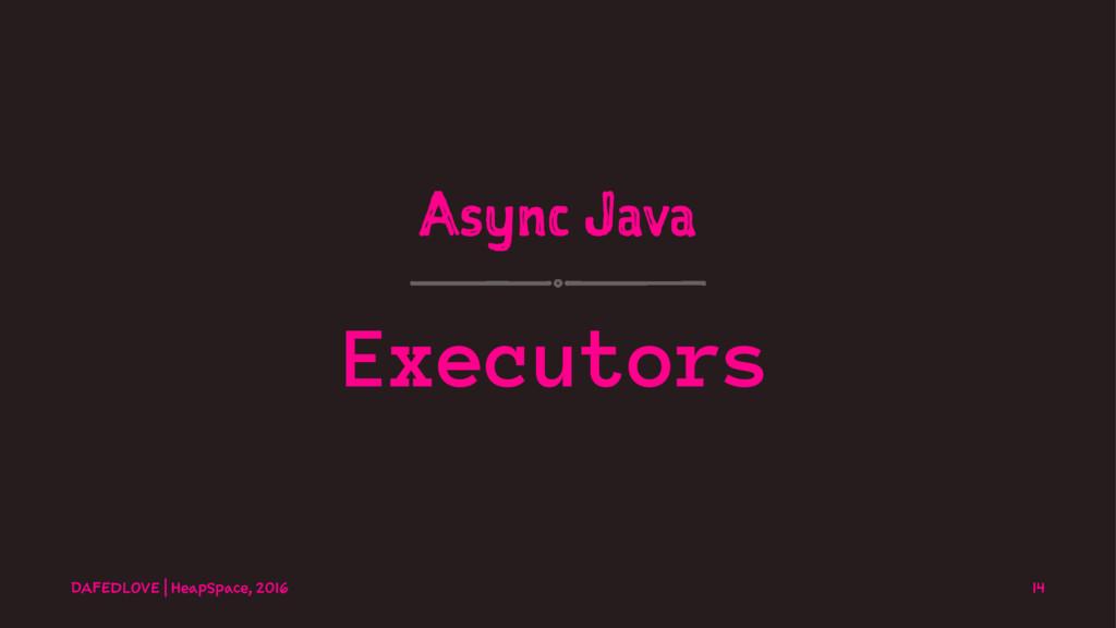 Async Java Executors DAFEDLOVE   HeapSpace, 201...