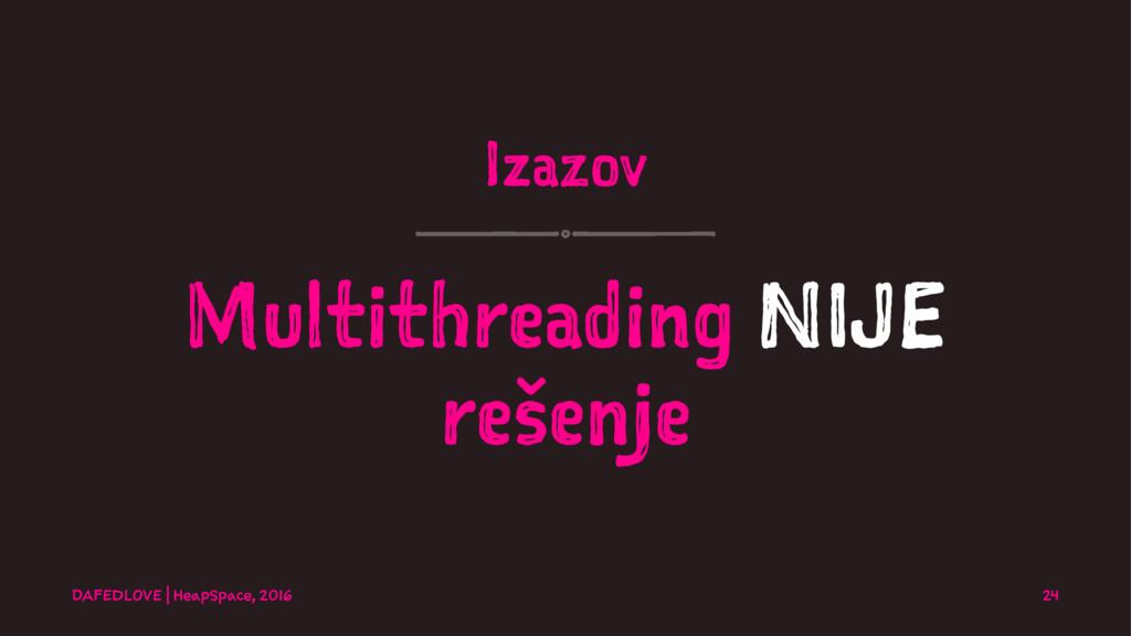 Izazov Multithreading NIJE rešenje DAFEDLOVE   ...