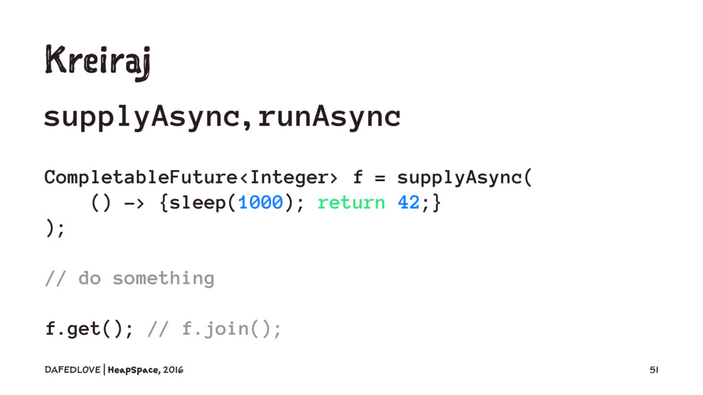 Kreiraj supplyAsync, runAsync CompletableFuture...