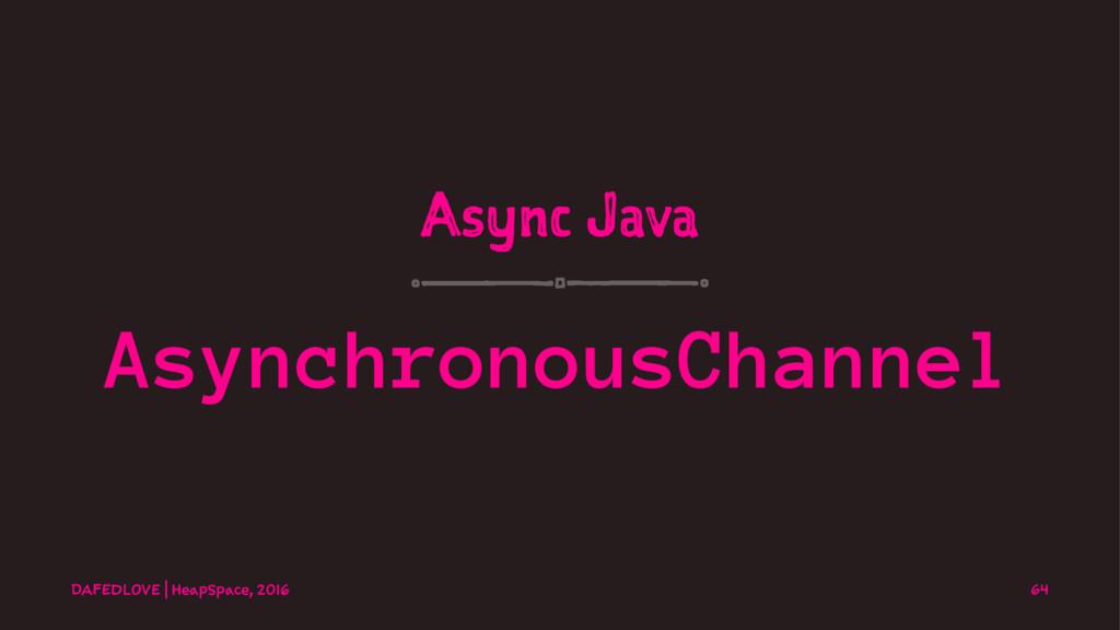 Async Java AsynchronousChannel DAFEDLOVE   Heap...