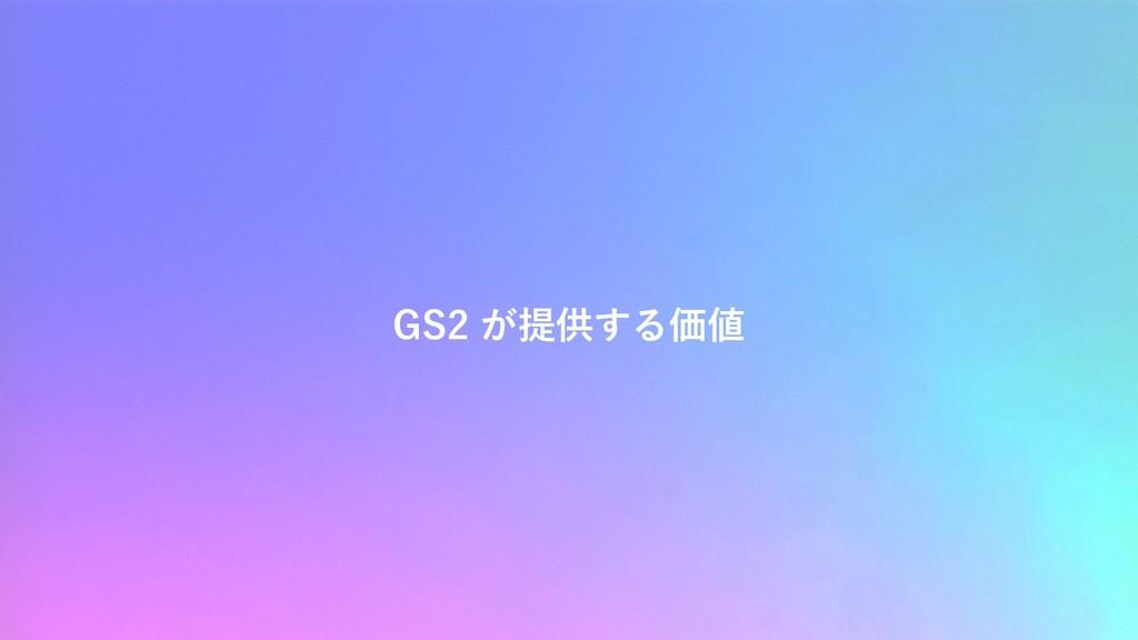 GS2 が提供する価値