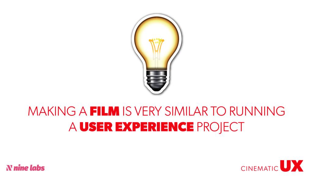 @sbradweaver UX CINEMATIC MAKING A FILM IS VERY...