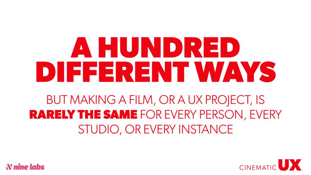 @sbradweaver A HUNDRED DIFFERENT WAYS UX CINEMA...