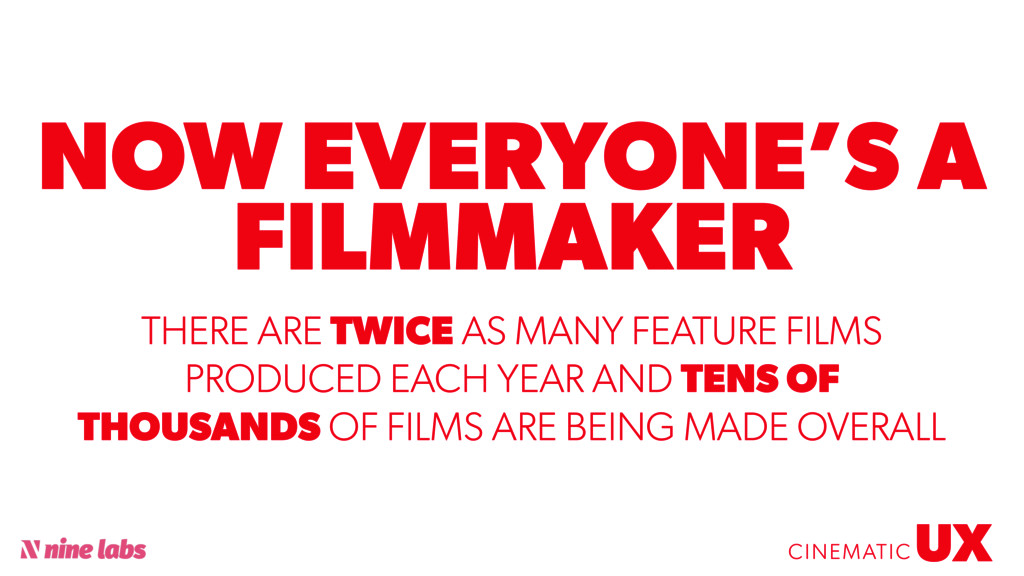 @sbradweaver NOW EVERYONE'S A FILMMAKER UX CINE...